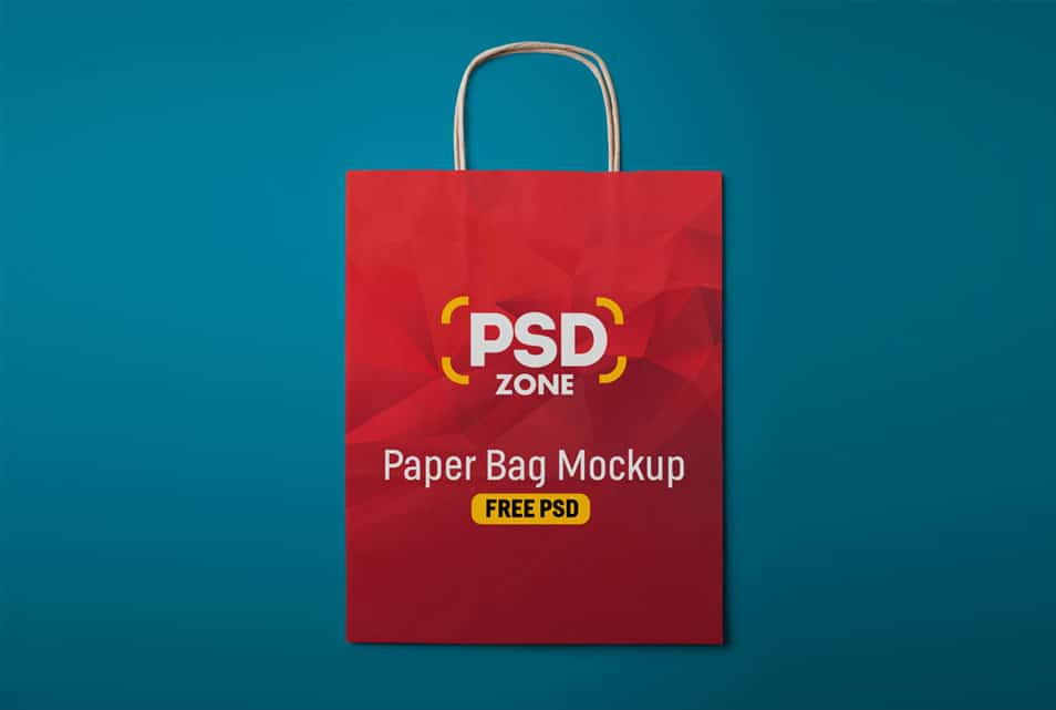 Paper Shopping Bag Mockup Free PSD