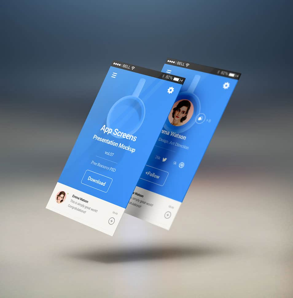 Perspective App Screens Mock-Up
