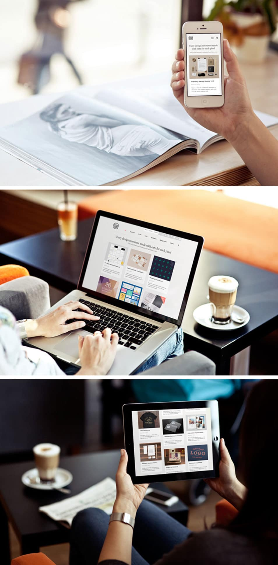 Photo MockUps – iPhone, iPad & MacBook
