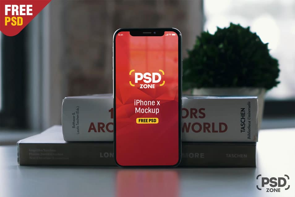 Photorealistic iPhone X Mockup Free PSD