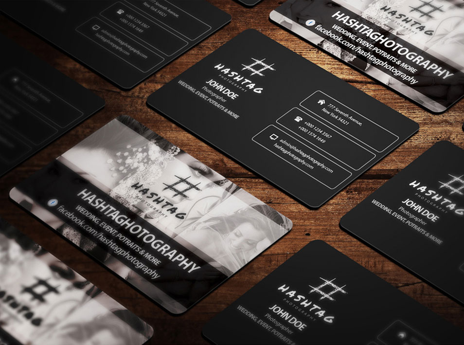 Premium Quality Rounded Corner Business Card Mockup