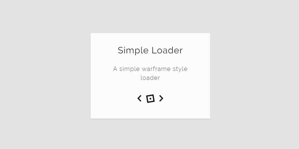 Pure CSS Loader