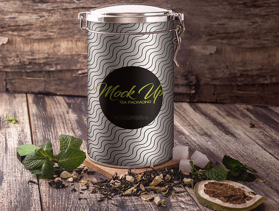 Tea Packaging PSD Mockup