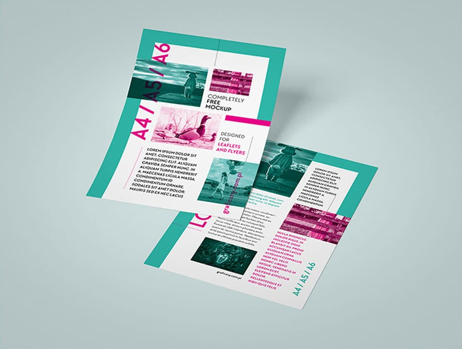 Vertical Leaflet Mockup Set