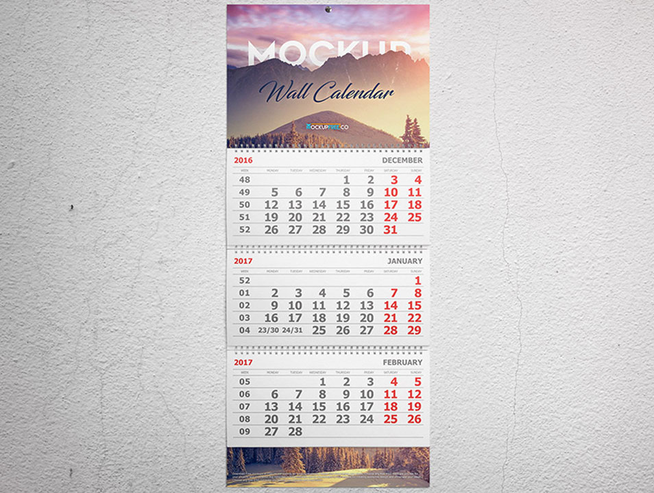 Wall And Desk Calendar Mockups Set