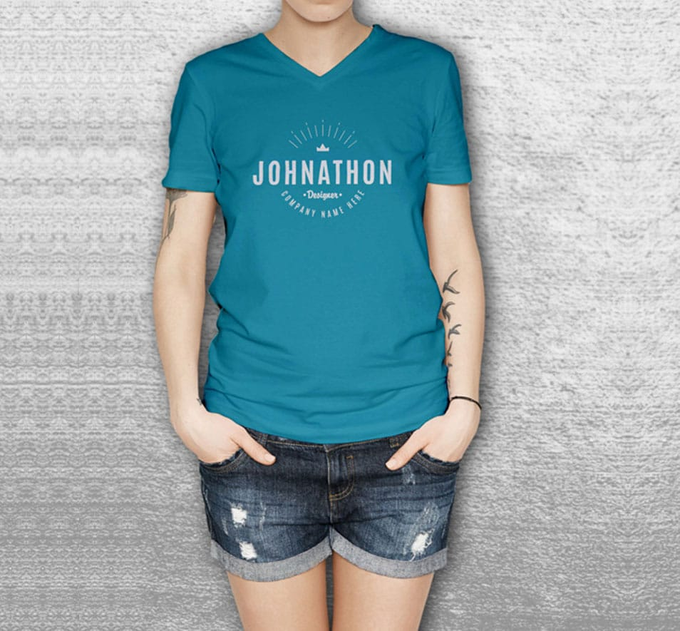 Women T-shirt Mock up