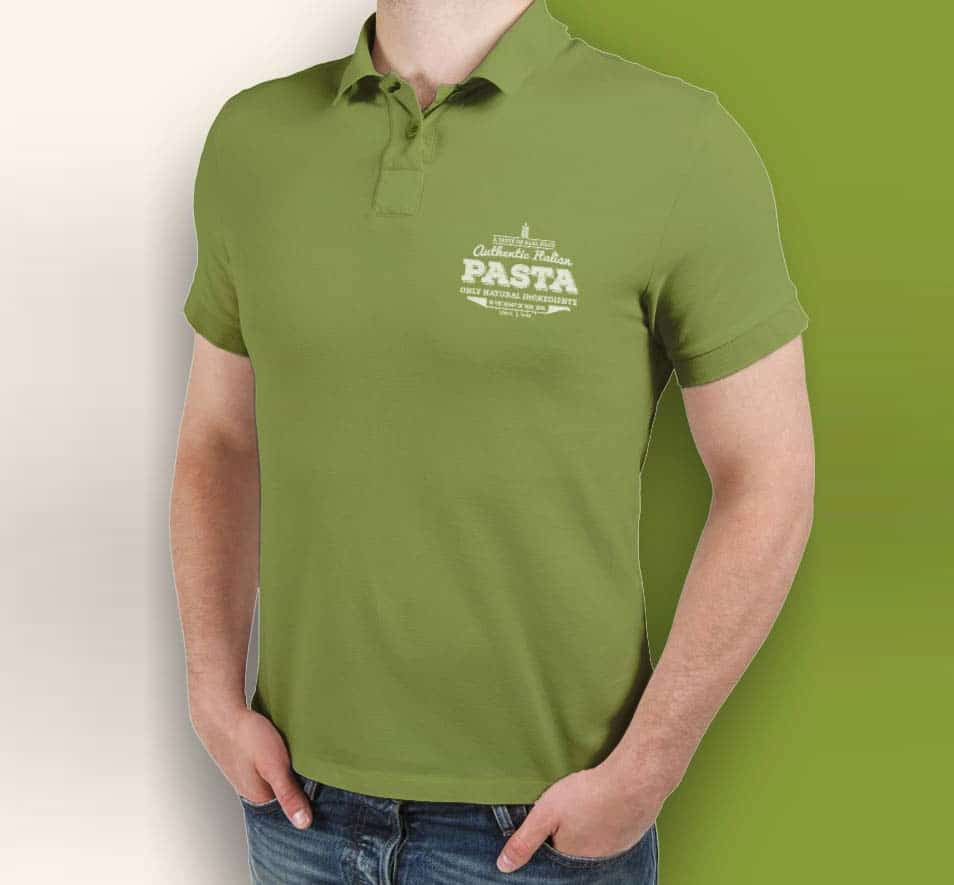Free Polo T-shirt Mock-up Template