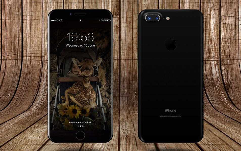 iPhone 8 Front and Back Premium PSD Mockup