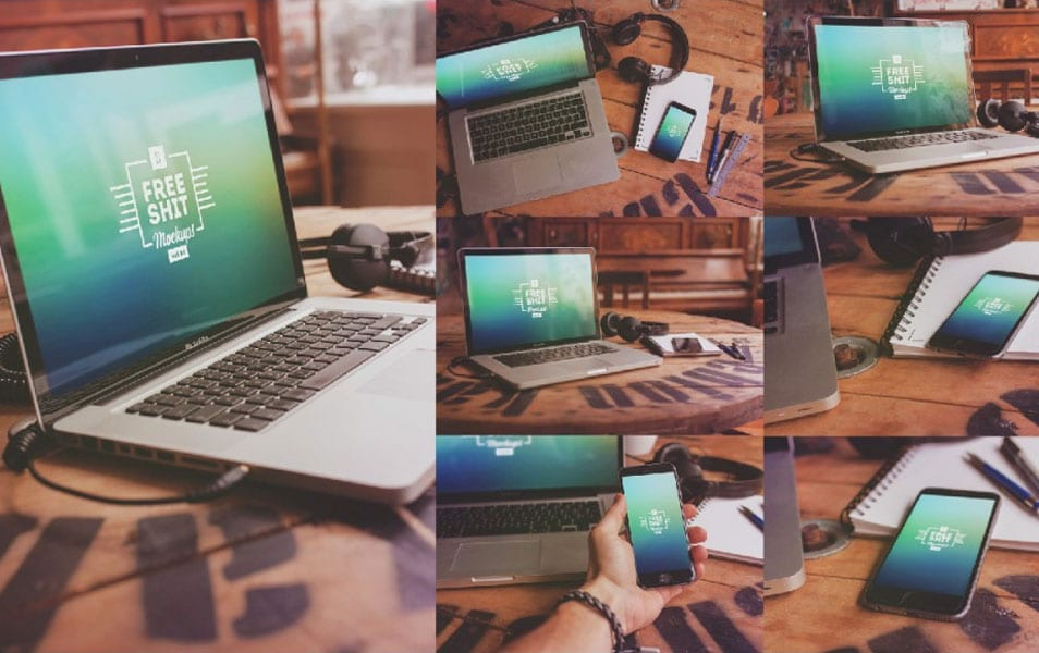 10 Free Hi-Res iPhone & MacBook mockups