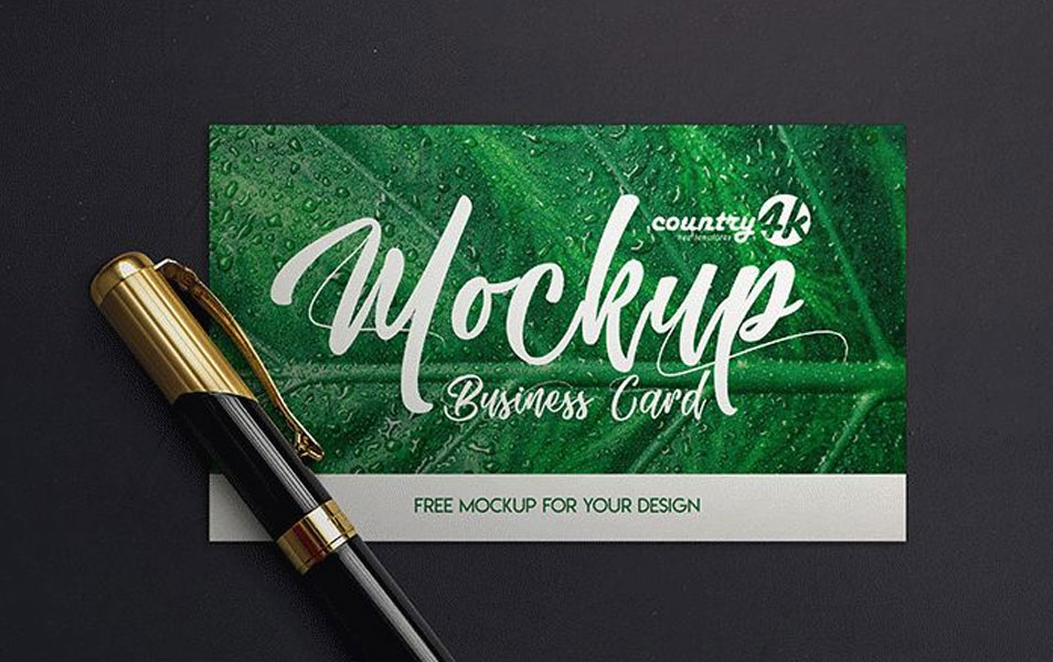 2 Free MockUps for Business Card