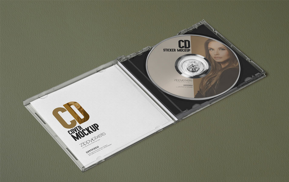 3 Free Outstanding Plastic CD Case Mockups