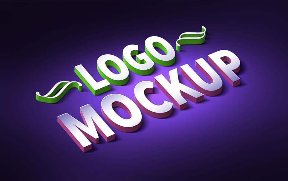 3D Logo & Text Effect Mockup