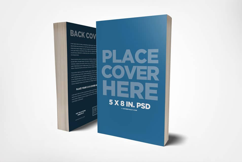 5 x 8 Front & Back Cover Book Mockup