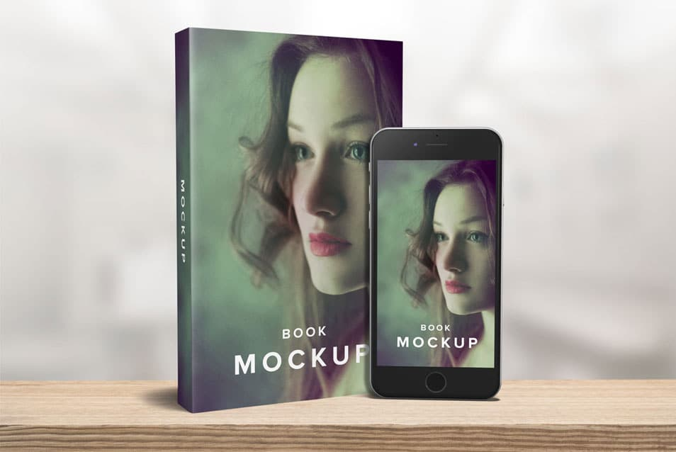 5 x 8 Paperback Book with iPhone Mockup