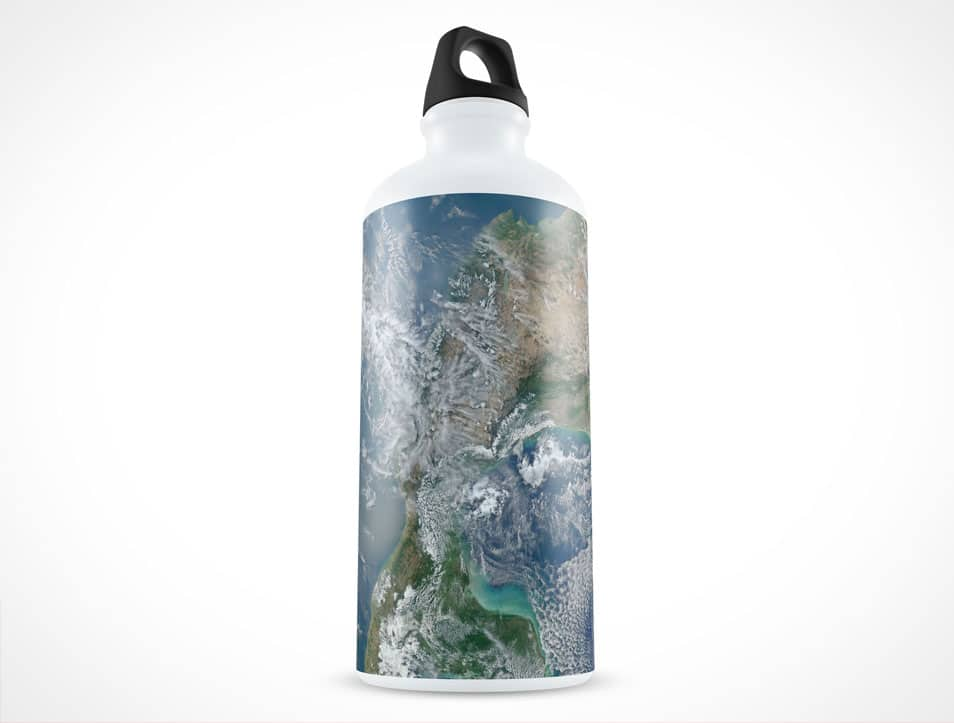 600mL Water Canister Bottle Mockup