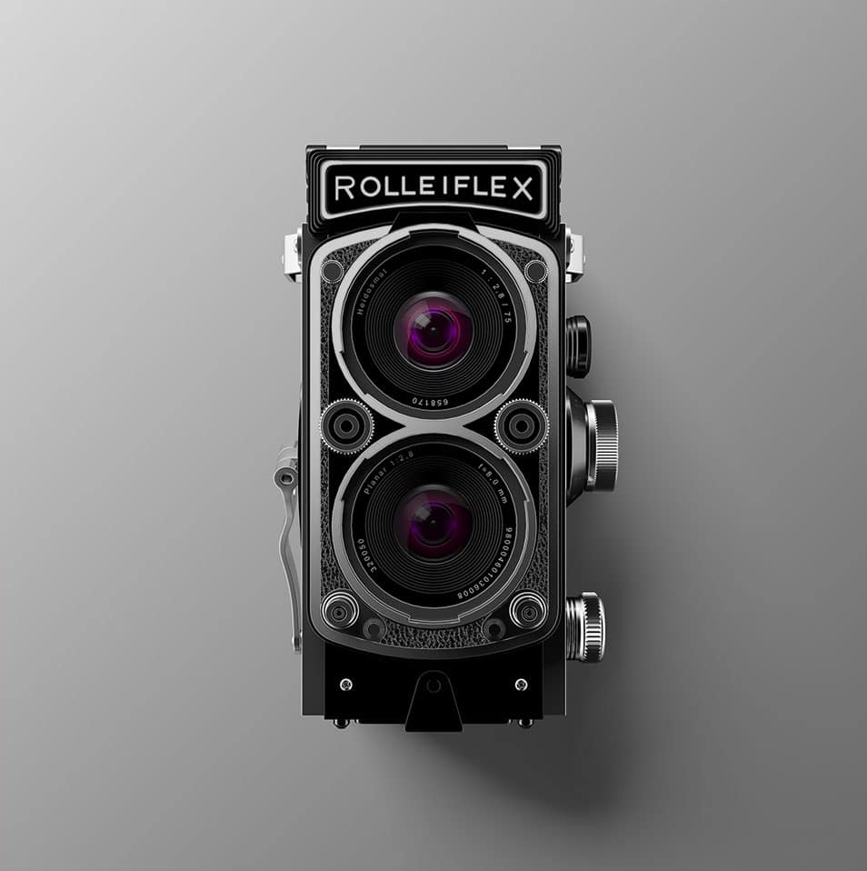 Antique Camera Free PSD Mockup