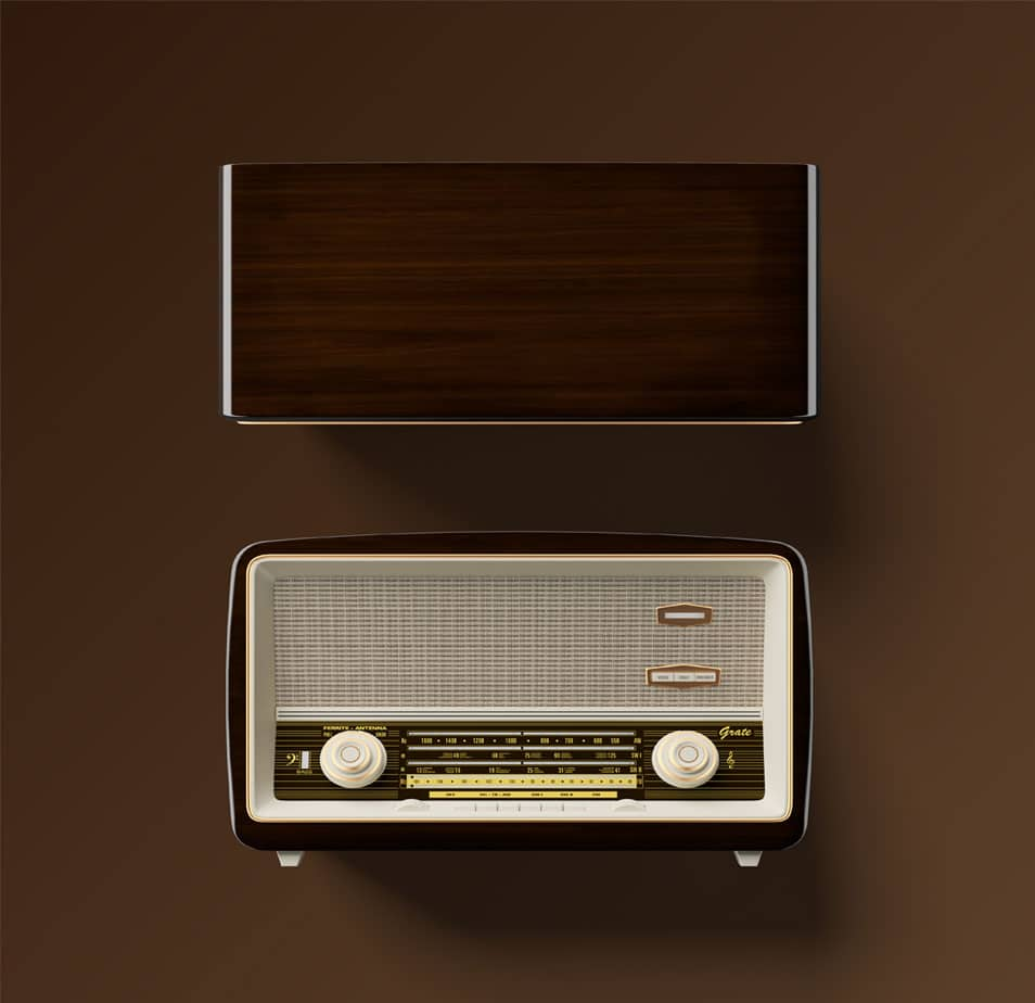 Antique Radio Free PSD Mockup