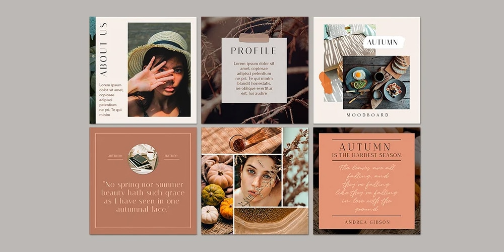 Autumn Mood Instagram Posts Template