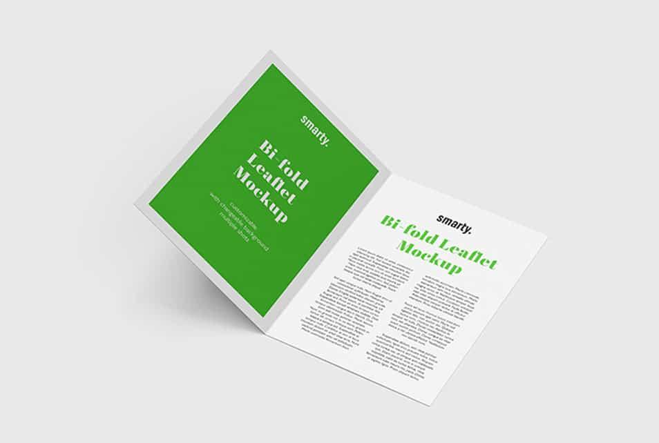 Bi Fold Leaflet Mockup » CSS Author