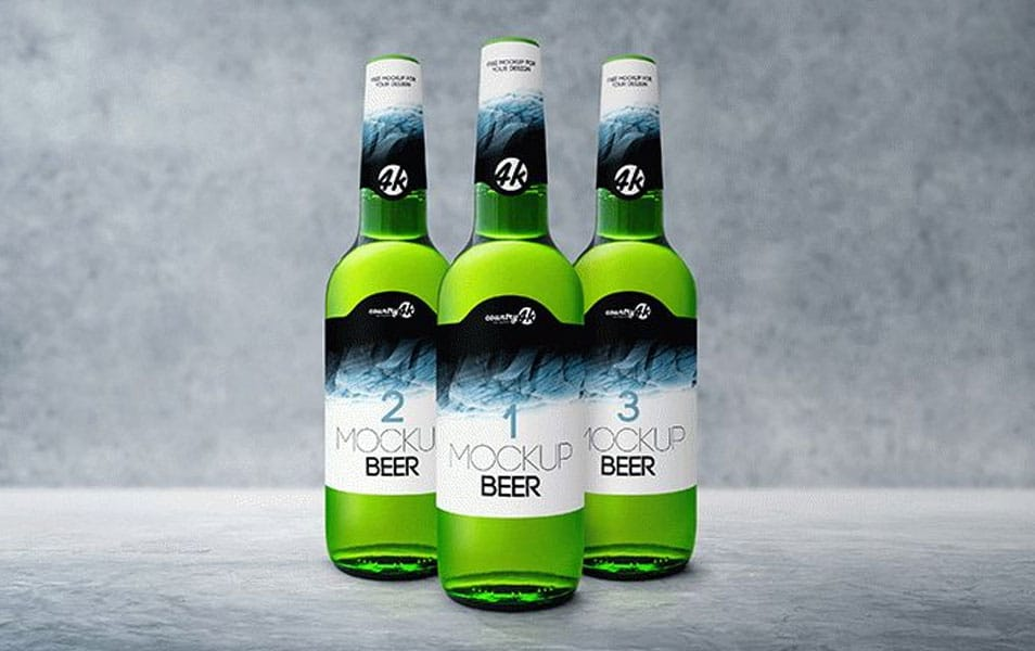 Bottle Beer PSD MockUp