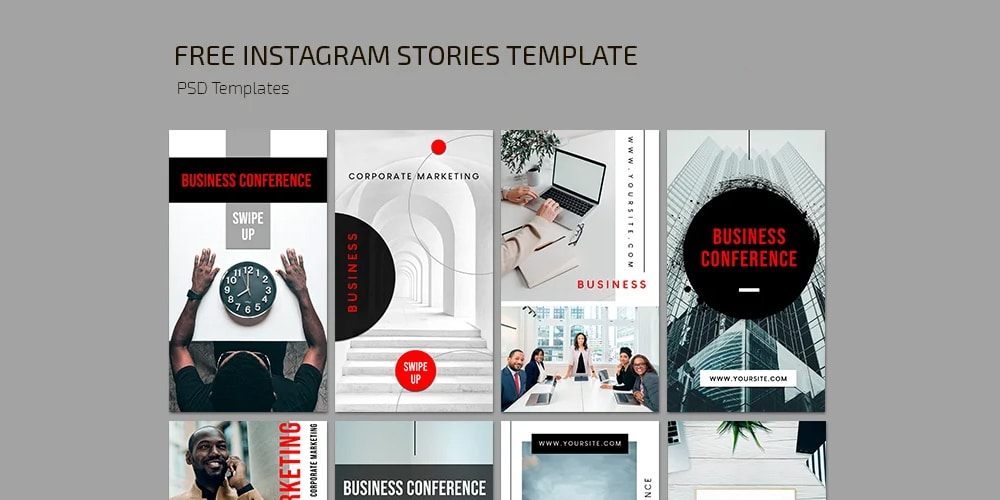 Business Conference Stories Template