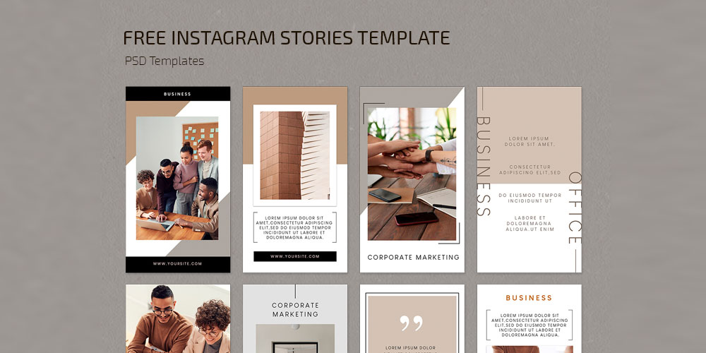 Business Stories Templates PSD