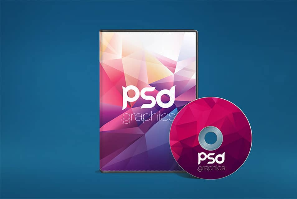 CD DVD Case and Disk Mockup PSD