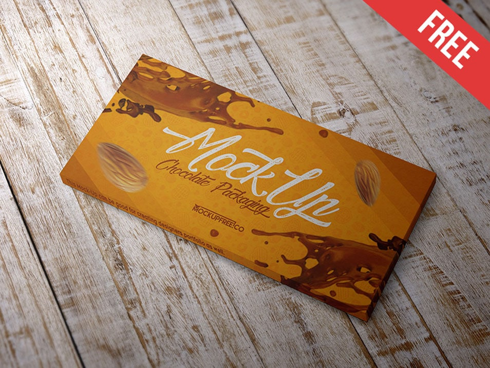 Chocolate Packaging PSD Mockup