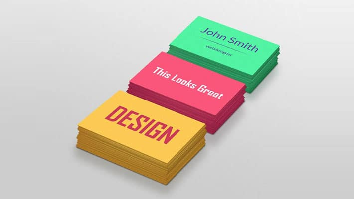 Colorful Business Cards Mockup