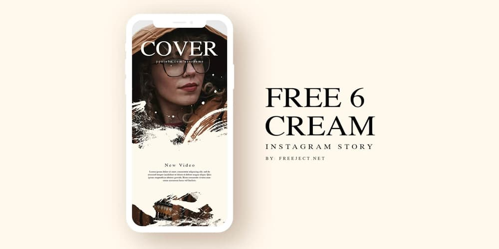 Cream Instagram Story Template PSD