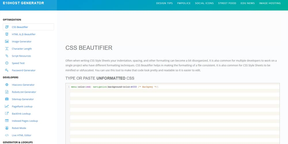 css beautifier sublime