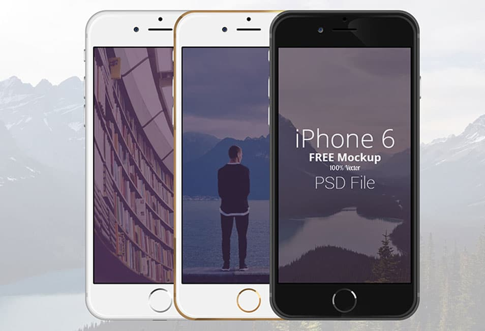 FREE iPhone 6 Scalable Mockups