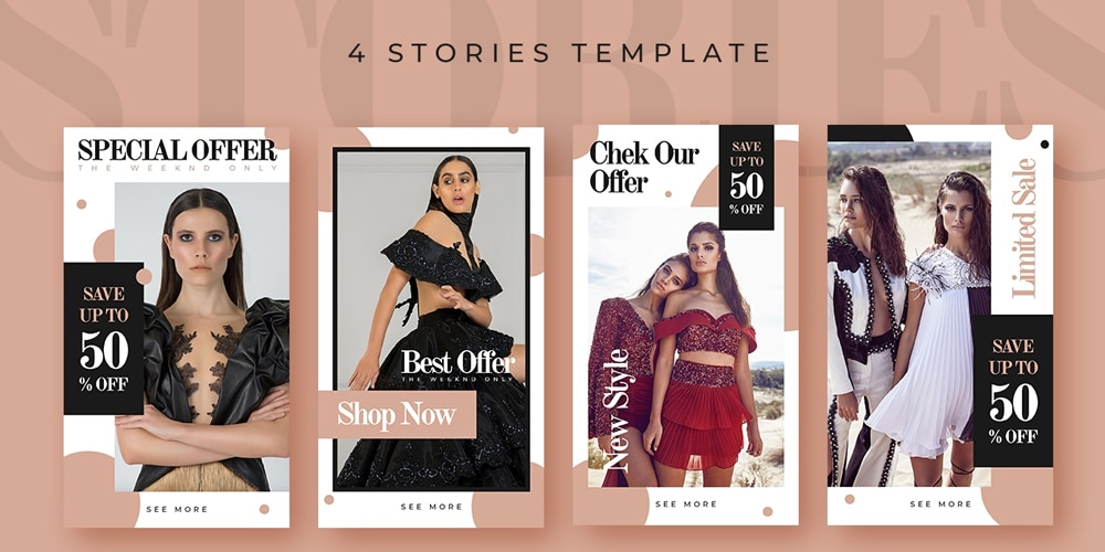 Fashion Sale Instagram Stories Templates PSD
