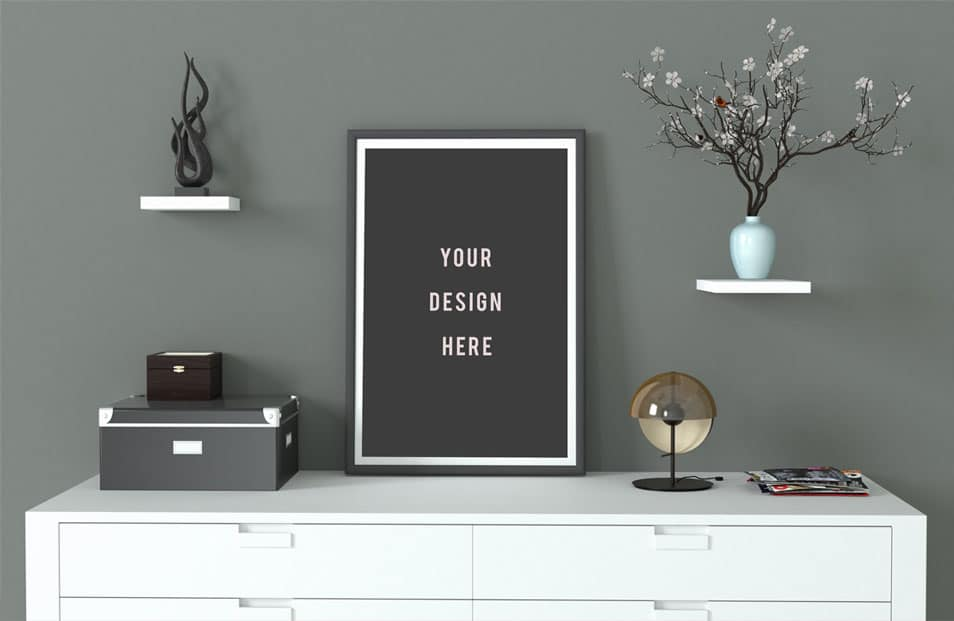 Frame Mockup Grey and Minimal