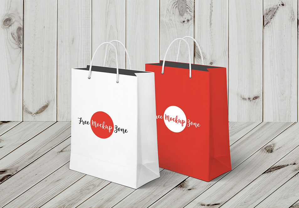 Free Awesome Shopping Bag Mockup