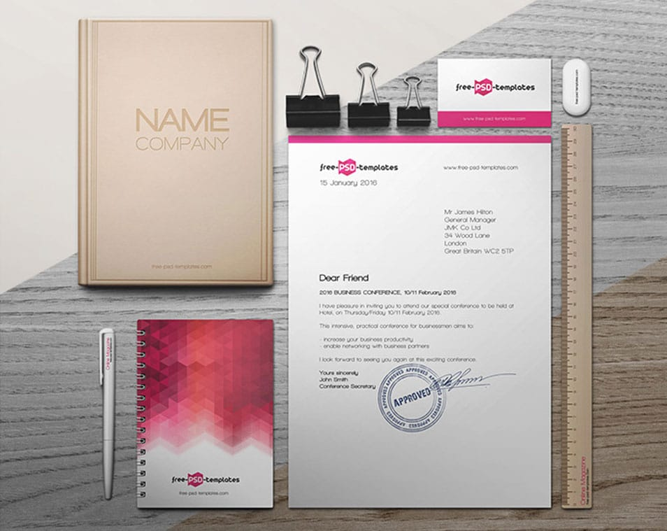 Free Branding Identity Mock-up in PSD