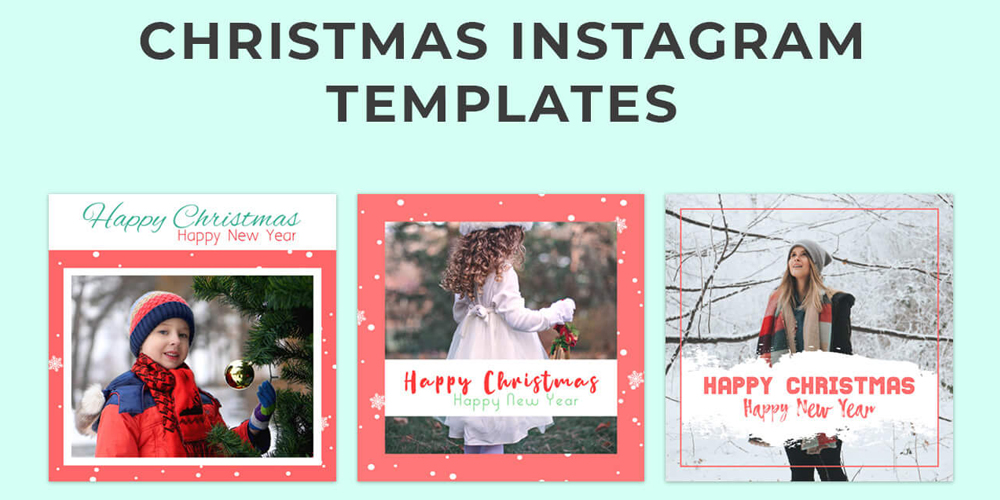 Free Christmas Instagram Templates PSD