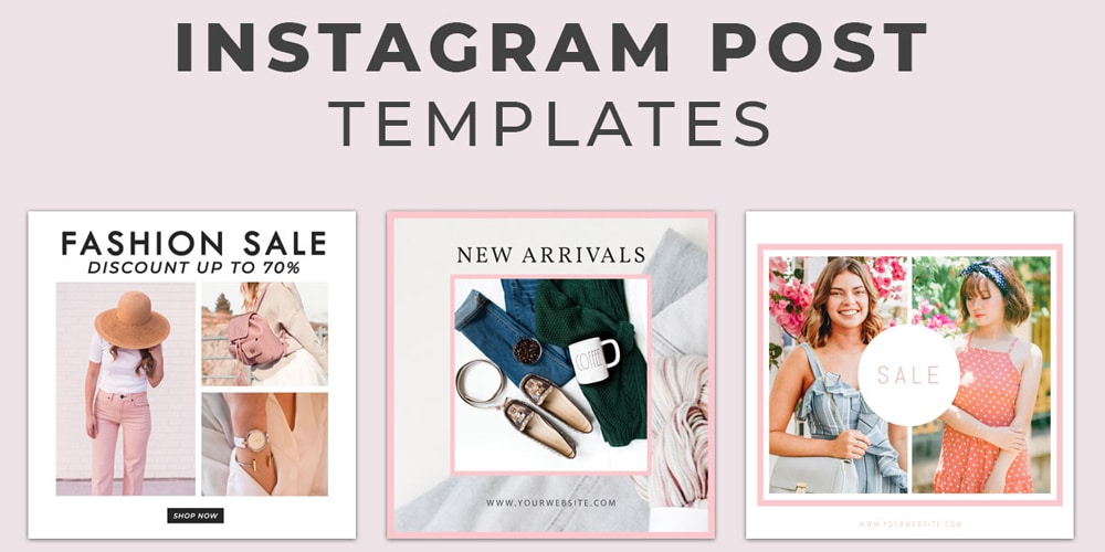 Free Fashion Instagram Social Media Post Templates PSD