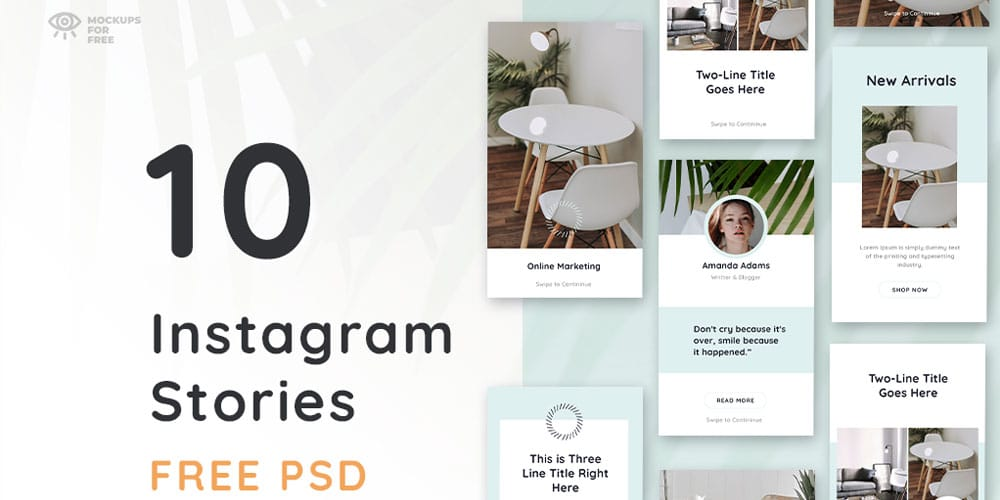 Free Insta Stories Template PSD