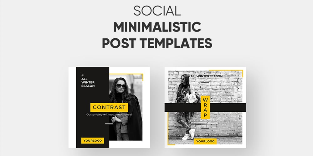 Free Instagram Minialistic Post Templates