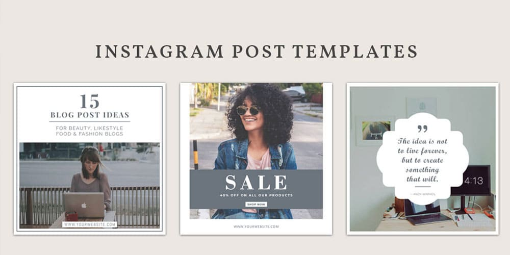 Free Instagram Post Templates PSD