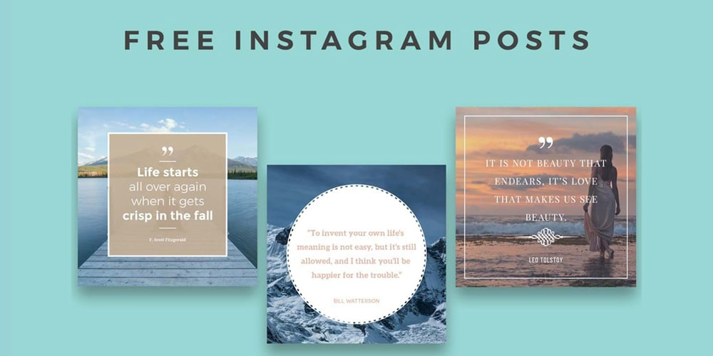 Free Instagram Posts Templates PSD