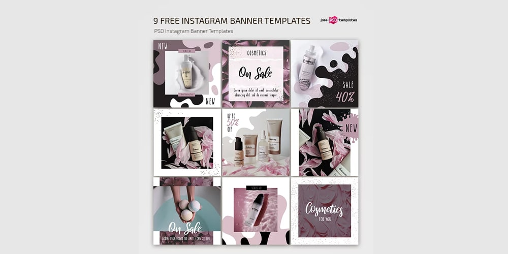 Free Instagram Set Templates PSD