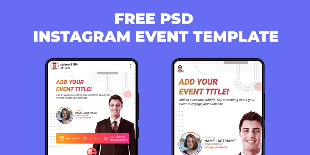 Free Instagram Template PSD