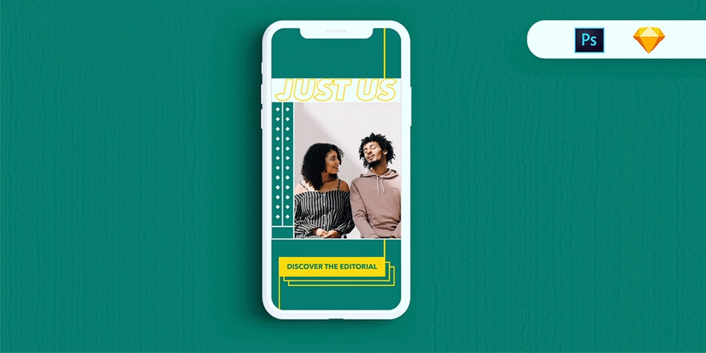 Free Instagram stories template