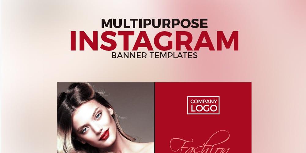 Free Multipurpose Instagram Banner Templates PSD