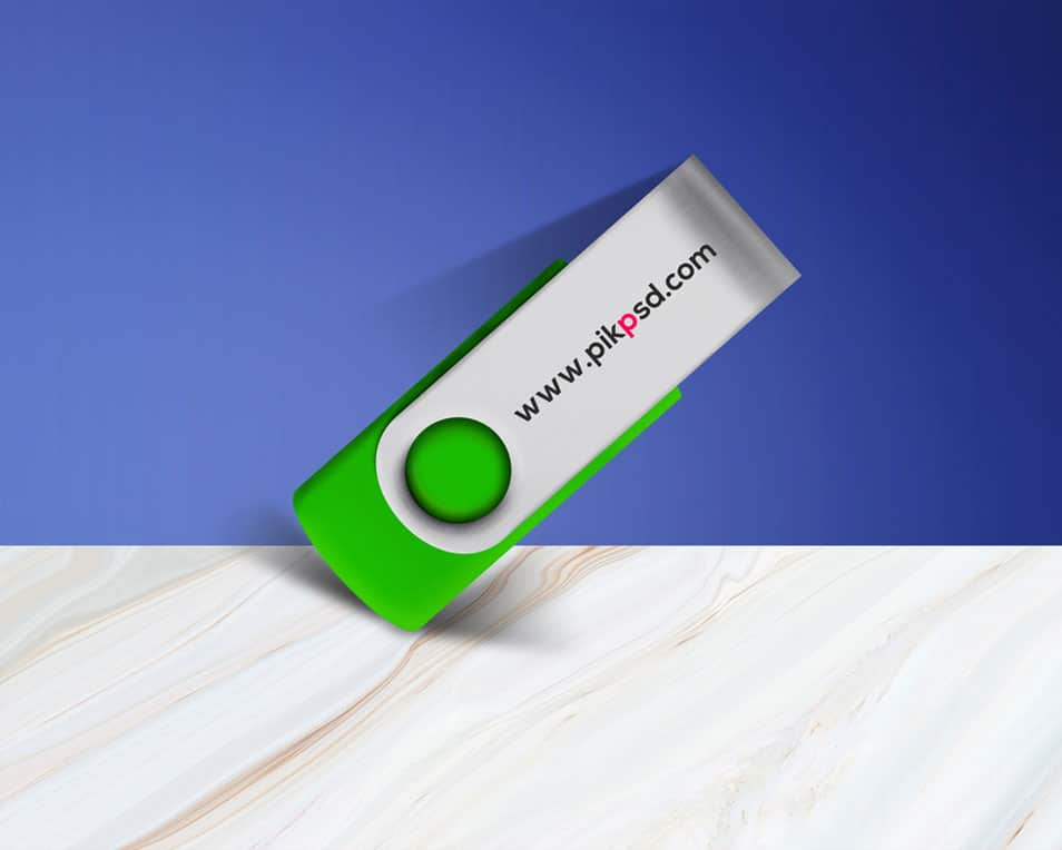 Free New Pen Drive Mock-Up PSD