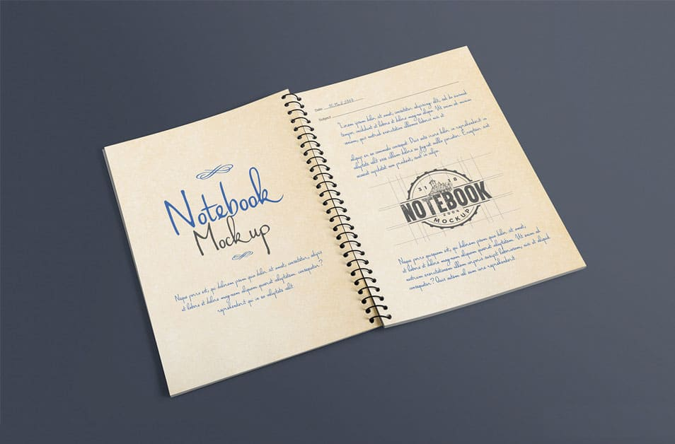 Free Open Journal Mockup PSD