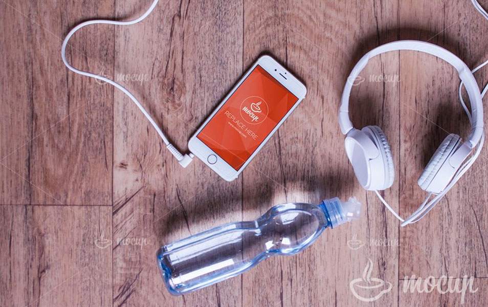 Free PSD Mockup iPhone 6 Fitness