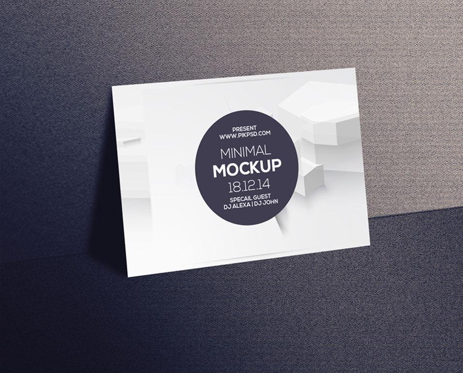 Free Postcard & Invitation Mockup PSD » CSS Author